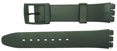 New 17mm (20mm) Sized Replacement Strap, Compatible for Swatch® Watch - Black