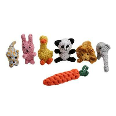 Dog Rope Toys Kit Tough Strong Chew Knot Ball Pet Puppy Bear Cotton Toy  P3