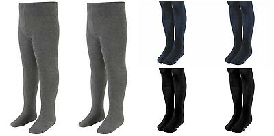 New Girls *6 Pack Value* Cotton Rich School Casual Thick Warm Winter Tights T1