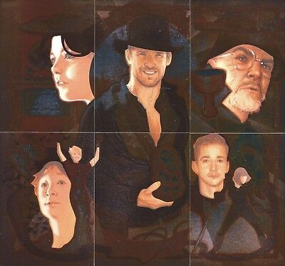 """2008 Topps Indiana Jones Masterpieces Complete 6 Card """"ETCHED FOIL"""" Puzzle Set"""