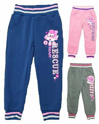 Girls Superwings Tracksuit Bottom Children Trousers Sportwear Age 3-6 Years