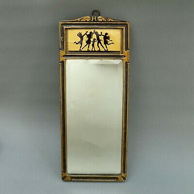 Art Nouveau Wall Mirror ~ Skating Fairy Nymphs Silhouette ~ Tallimit Diefenbach