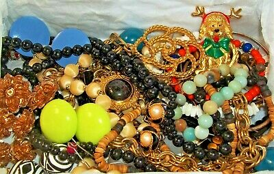LBS Vintage Now Junk Drawer Jewelry Lot Unsearched Untested Mixed Condition