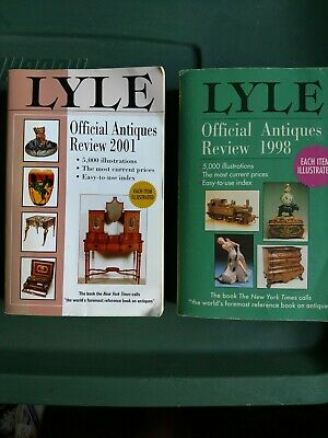 Lyle Official Antiques Review 1998 And 2001 Reference Book Lot Of Two
