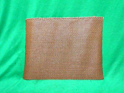 NEW OLD STOCK VINTAGE RADIO SPEAKER FABRIC GRILL CLOTH 9 inches x 12 inches