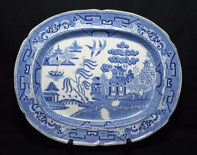 "Caughley Pottery Porcelain Platter Georgian c1790s 17.5"" Marked, VGC"