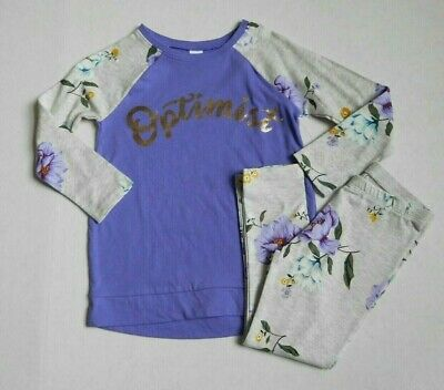 NWT 2pc Old Navy Long Sleeve Tunic Top & Floral Leggings sz 3t or 5t