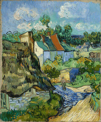 Vincent van Gogh Houses in Auvers Oil Painting CANVAS Print Giclee Decor 8x10