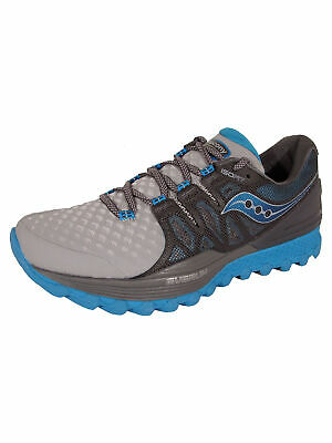 Saucony Womens Xodus ISO 2 Neutral Trail Running Shoes, Grey/Blue, US 5