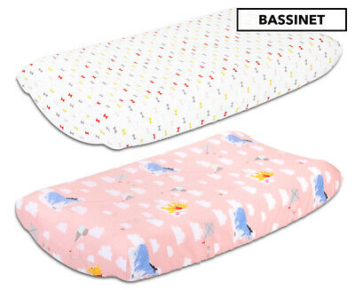 Disney Baby Bassinet Sheets 2-Pack - Pink/White