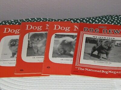 Vintage Magazines, Dog News, Chow Chow featured on cover,