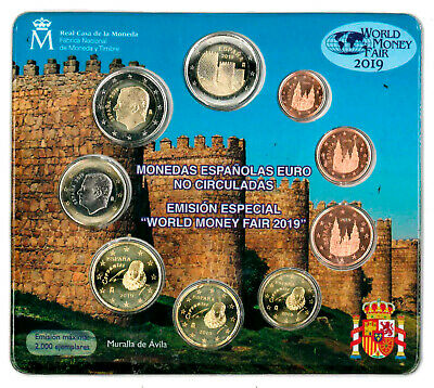 Especial KMS World Money Fair Berlín WMF 2019 Incl. Moneda Conmemorativa Avila