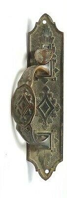 "Antique Ornate Bronze Door Handle Latch Knob 10"" x 2 1/4"""