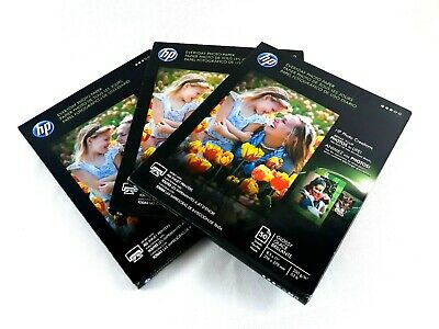 "Lot of 3 HP Everyday Photo Paper Glossy 8.5"" x 11"" 50 Sheets Pack Q8723A"