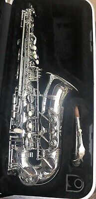 Nice Used Silver Saxophone.com Alto Saxophone With Hard Case & Mouthpiece