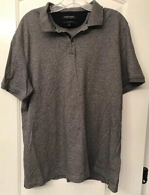 Banana Republic Luxury Touch Polo Shirt Gray Mens XL Standard Fit Lightly Used