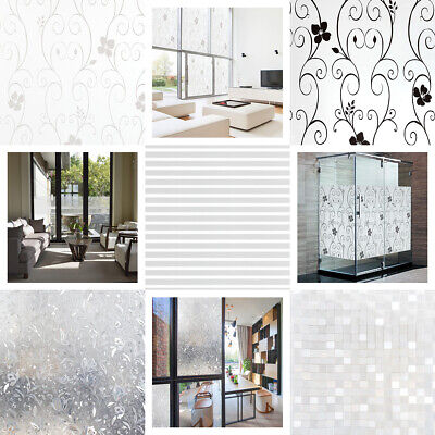 Frosted Window Film Privacy Etched Glass Sticky Back Plastic Vinyl 5 Designs