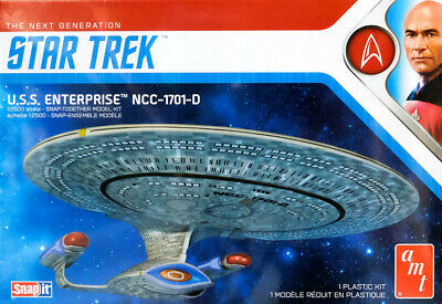 Star Trek U.S.S. Enterprise NCC-1701-D SnapIt 1:2500 AMT Model Kit AMT1126
