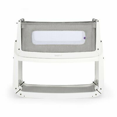 SnuzPod 3 Bedside Crib - Dusk Grey - Free fitted sheet