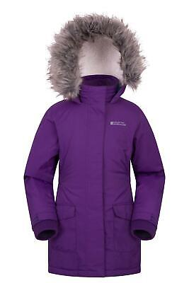 Mountain Warehouse Cascade Padded Kids Jacket - Reflective with Adjustable Cuffs