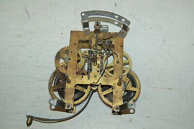 E Ingraham Mantel Clock Movement 26 Duo Strike Steampunk Parts Repair Untested