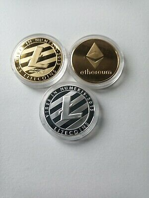 BIT COIN GOLD Silver Crypto Currency Cyber Virtual Online