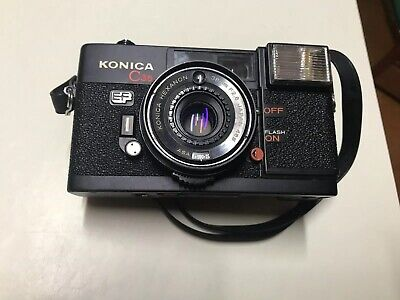 Konica C35 + Case, Vintage Film Camera, Tested, Working, Gd Condition, Aus Stock