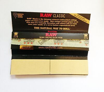 RAW Black Connoisseur Kingsize Papers with Filter Tips 4 packs