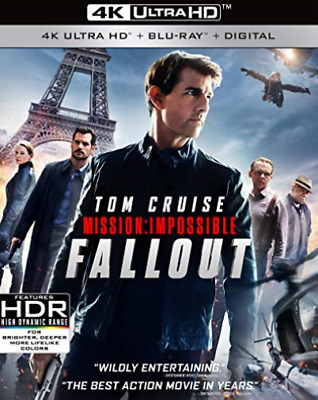 `CRUISE,TOM`-4K Blu-Ray - MISSION:IMPOSSIBLE FALLOUT Blu-Ray NEW