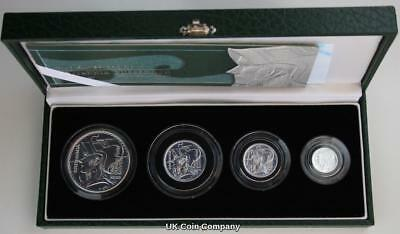 2003 Royal Mint Britannia Fine Silver Proof Four Coin Set Boxed & Certificate