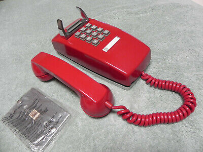 1973 Red Western Electric Bell System 2554 TT  Wall Telephone Restored-Nice-Vtg