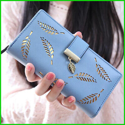 Wallet Female Leaves Pouch Handbag For Women Coin Purse Card Holders Clutch