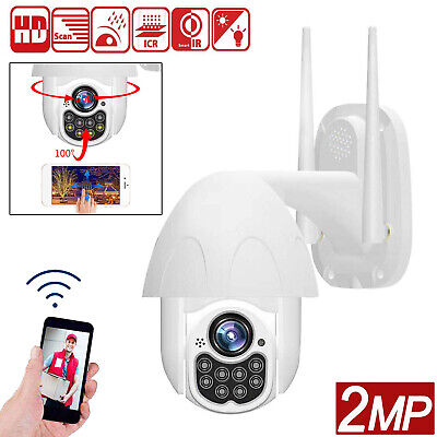 HD 2MP 1080P Wireless PTZ IP Camera Two Way Audio Wifi Monitor CCTV Security Cam