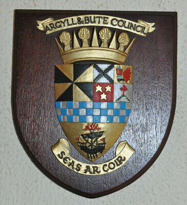 Argyll and Bute Council wall plaque shield crest coat of arms
