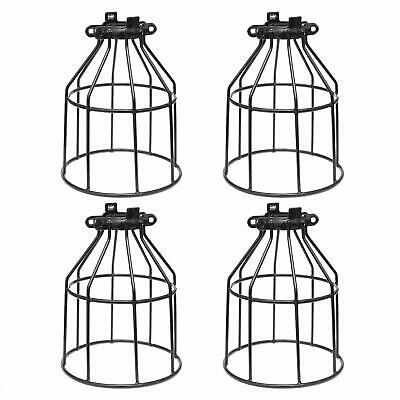 Metal Bulb Guard, Clamp On Steel Lamp Cage for Hanging Pendant Lights, Ceiling F