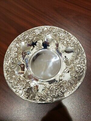 "S KIRK and SON CO. 9"" STERLING SILVER REPOUSSE BOWL"