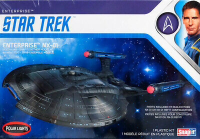 Star Trek Enterprise NX-01 SnapIt 1:1000 Model Kit Bausatz Polar Lights POL966