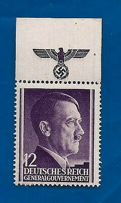 Third 3rd Reich Nazi Germany GG Hitler Eagle Swastika postage stamp MNH H