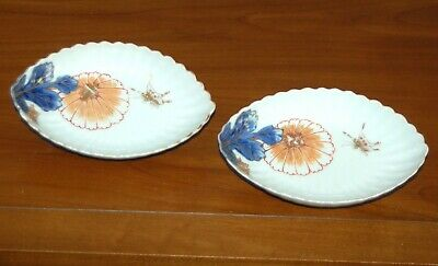 Antique Pair JAPANESE IMARI NABESHIMA Dishes Plates Porcelain Arita Meiji Edo