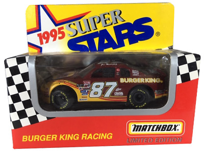 Joe Nemechek 87 Burger King 1995 Chevy NASCAR Matchbox Race Car