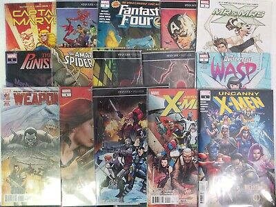 Lot of 15 MARVEL Comics #1s X-Men Spider-Man Fantastic Four 2018-2019 See List
