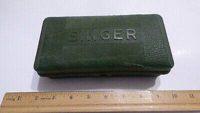 Vtg Singer 221 Featherweight Sewing Machine Green Box Buttonhole 1948