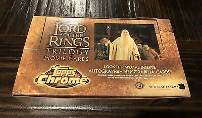 Topps Chrome Lord of the Rings Trilogy Movie Trading Cards Hobby Pack Lot Of 5