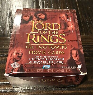 TOPPS LORD OF THE RINGS Two Towers Movie Card HOBBY Pack Lot Of 6 Sealed Packs