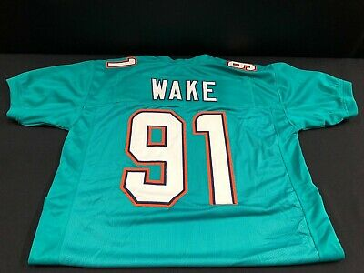 size 40 fb530 0085f 91 CAM WAKE Miami Dolphins Game Used White Authentic Helmet ...