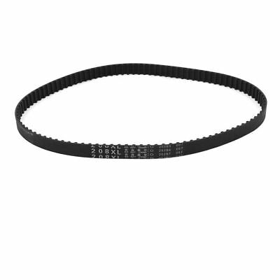 "H● 208XL 104 Teeth 10mm Width Black Rubber Cogged Industrial Timing Belt 20.8""."