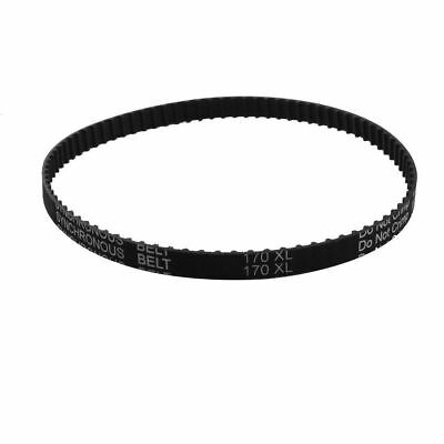 "H● XL-170 85 Teeth 9.5mm Width Black Rubber Cogged Industrial Timing Belt 17""."