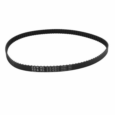 "H● 226XL 113 Teeth 10mm Width Black Rubber Cogged Industrial Timing Belt 22.6""."