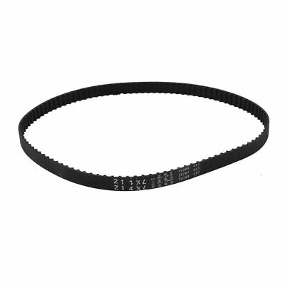 "H● 214XL 107 Teeth 10mm Width Black Rubber Cogged Industrial Timing Belt 21.4""."