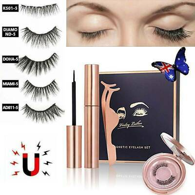 Magnetic Eyeliner 5 Type Natural Magnetic False Eyelashes Liquid Eye Lashes Sets